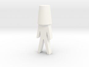 Wine stopper man in White Strong & Flexible Polished