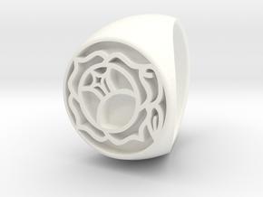 Utena Signet Ring Size 4.5  in White Processed Versatile Plastic