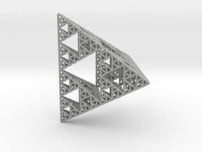 Sierpinski Pyramid; 4th Iteration in Raw Aluminum
