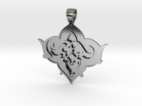 CODE: SL01FX - PENDANT in Fine Detail Polished Silver