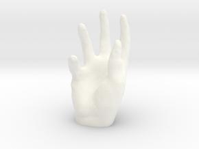 Iphone Hand  in White Processed Versatile Plastic