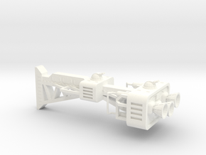 Hyperion Hull B in White Processed Versatile Plastic
