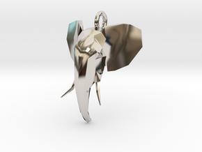 Elephant Head in Platinum