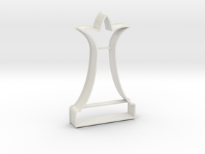 Cookie Cutter - Chess Piece Queen in White Natural Versatile Plastic