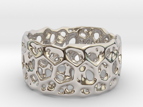 Frohr Design Bracelet Radiolaria Light in Rhodium Plated Brass