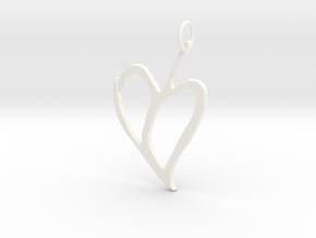 Heart 1 in White Processed Versatile Plastic