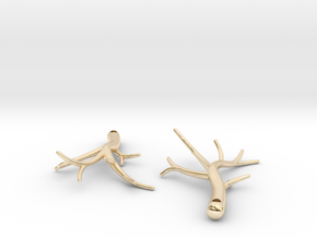 Twiggy Earrings in 14k Gold Plated Brass: Small