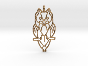 Night Owl Pendant in Polished Brass
