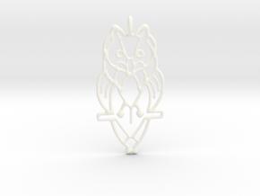 Night Owl Pendant in White Processed Versatile Plastic
