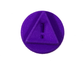 Reminder Token With Exclamation, Pandemic Legacy in Purple Strong & Flexible Polished
