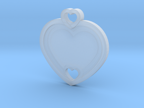 Heart Key Chain (Customizable) in Smooth Fine Detail Plastic