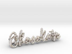 Chocolate Chocolate Necklace in Platinum