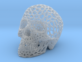 Human skull skeleton perforated sculpture in Smooth Fine Detail Plastic