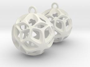 Orion-earrings in White Natural Versatile Plastic