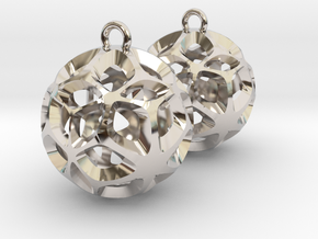 Orion-earrings in Platinum