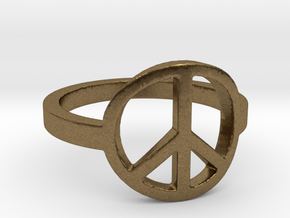 Peace Ring Size 5.5 in Natural Bronze: 5.5 / 50.25