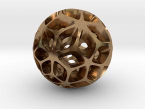 Flora - Pendant / Keychain in Natural Brass