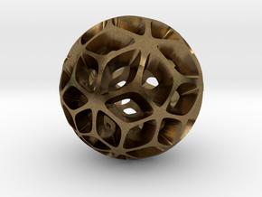 Flora - Pendant / Keychain in Natural Bronze