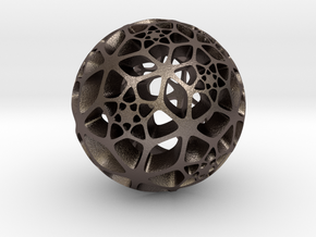 Flower of Life in Polished Bronzed Silver Steel