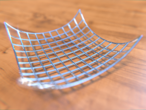 ExponentialParametricSurface2 in Fine Detail Polished Silver