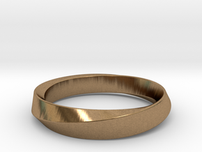 iRiffle Mobius Narrow Ring I (Size 5) in Natural Brass
