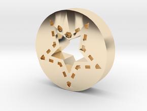 Star in 14k Gold Plated Brass
