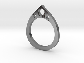 Teardrop Ring in Premium Silver