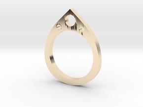 Teardrop Ring in 14K Yellow Gold