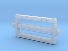 1:24 Heywood 2x4 Basic Car Frame w/ L&P Couplers in Smooth Fine Detail Plastic