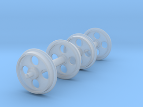 1:24 Heywood Heavy Wheelset Sprue in Smooth Fine Detail Plastic