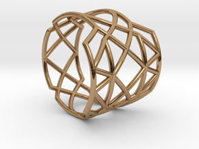 INTERSECTION Ring Nº21 in Polished Brass