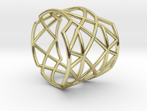 INTERSECTION Ring Nº21 in 18k Gold Plated Brass