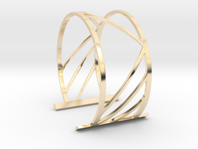 Subgeometric 2_Large in 14k Gold Plated Brass