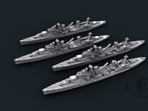 1/4800 UK Arethusa Class Light Cruisers (2+2) in Frosted Ultra Detail