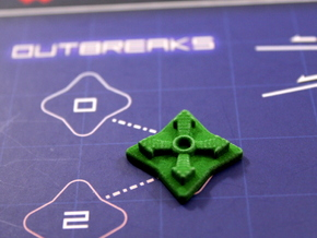 Pandemic Outbreak Marker -- Legacy Board Design in Green Strong & Flexible Polished