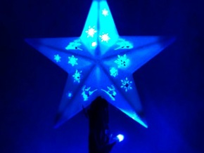 Christmas Tree Star in White Strong & Flexible Polished