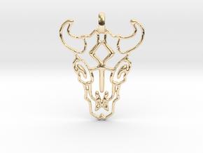 Animal Skull Pendant in 14k Gold Plated Brass