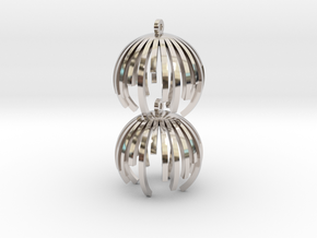 TIME - earrings in Rhodium Plated Brass