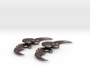 Warglaive Pair in Polished Bronzed Silver Steel