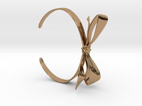 Ribbon Bracelet in Polished Brass