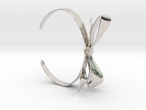 Ribbon Bracelet in Rhodium Plated Brass