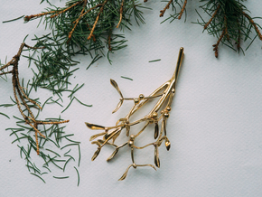 "Mistletoe- 4"" in Polished Brass"