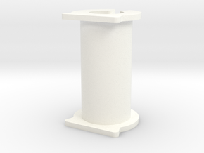 Cable Cylinder in White Processed Versatile Plastic