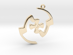 Labyrinth Series #2 in 14k Gold Plated Brass