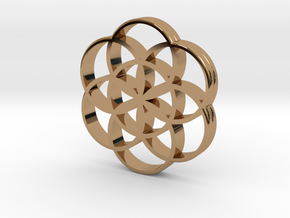 Flower of Life is the source of the universe in Polished Brass