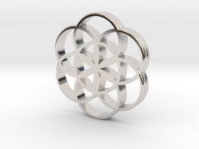 Flower of Life is the source of the universe in Rhodium Plated Brass