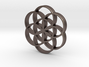 Flower of Life is the source of the universe in Polished Bronzed Silver Steel