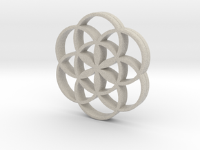 Flower of Life is the source of the universe in Natural Sandstone