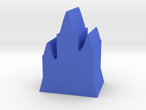 Game Piece, Castle with Tall Towers in Blue Strong & Flexible Polished