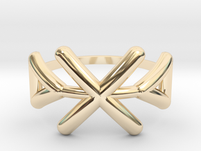 Tribal ring Size M / 6 in 14k Gold Plated Brass